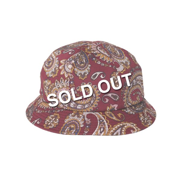 <img class='new_mark_img1' src='https://img.shop-pro.jp/img/new/icons5.gif' style='border:none;display:inline;margin:0px;padding:0px;width:auto;' />HighLife / Paisley 6P Hat - Burgundy -