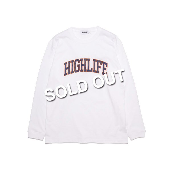 <img class='new_mark_img1' src='https://img.shop-pro.jp/img/new/icons47.gif' style='border:none;display:inline;margin:0px;padding:0px;width:auto;' />HighLife / College L/S Tee - White -