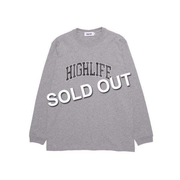 <img class='new_mark_img1' src='https://img.shop-pro.jp/img/new/icons5.gif' style='border:none;display:inline;margin:0px;padding:0px;width:auto;' />HighLife / College L/S Tee - HeatherGrey -