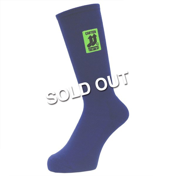 <img class='new_mark_img1' src='https://img.shop-pro.jp/img/new/icons5.gif' style='border:none;display:inline;margin:0px;padding:0px;width:auto;' />Whimsy / This Side Up Socks - Navy -