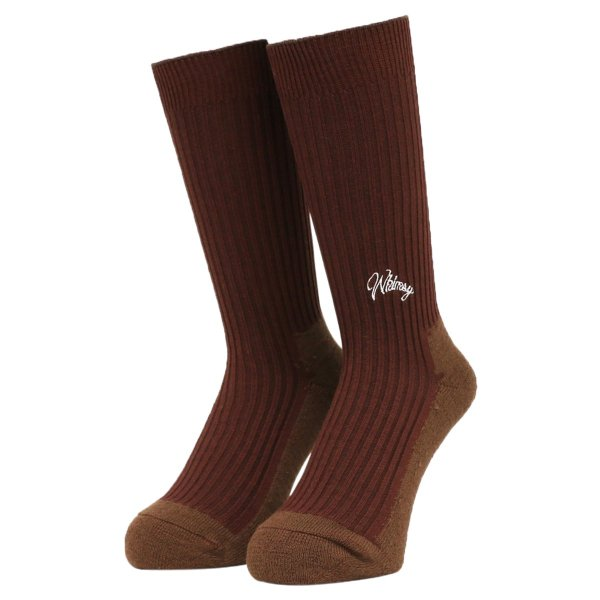 <img class='new_mark_img1' src='https://img.shop-pro.jp/img/new/icons5.gif' style='border:none;display:inline;margin:0px;padding:0px;width:auto;' />Whimsy / Emjay Socks - Brown -