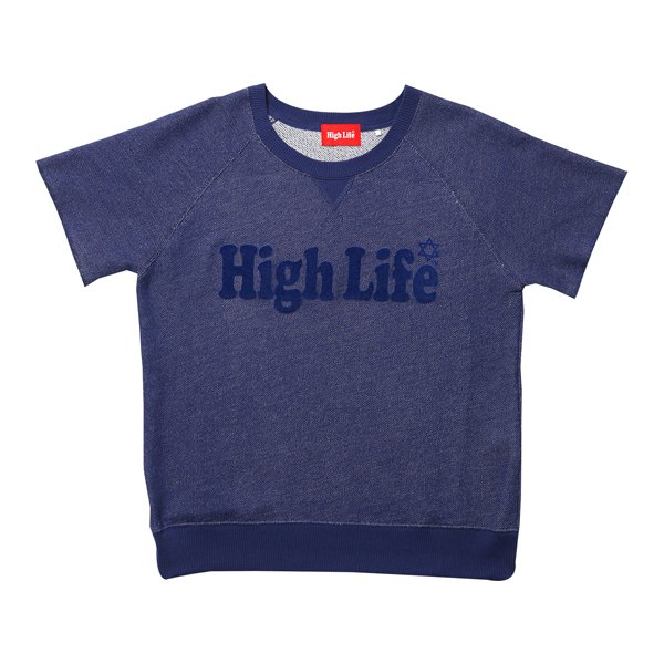 High Life Logo S/S Sweat Tee / Navy