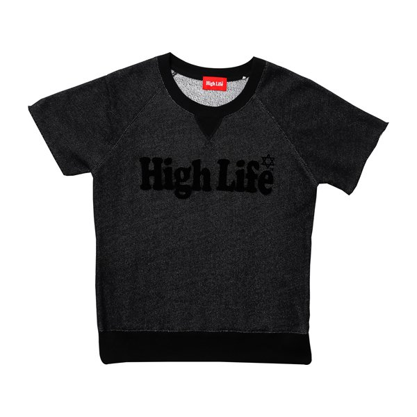 High Life Logo S/S Sweat Tee / Black