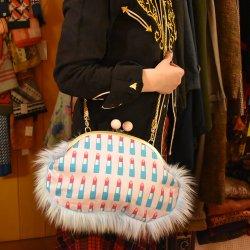 【murakado】1/2ファークラッチ リップ LONG KISS NIGHT|Fur 1/2|Clutch bag [DW5-299]【レターパックプラス可】