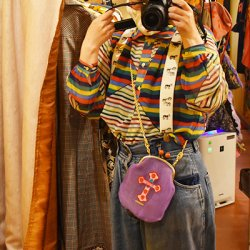 【murakado】シースルーがま口!メキシカンクロス(紫) CHINMOKU (PK)|シースルー [DW23-354]【クリックポスト可】