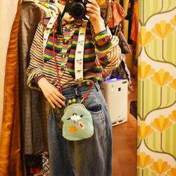 【murakado】シースルーがま口!鶴(ミント) OTAKARA|シースルー [DW23-355]【クリックポスト可】