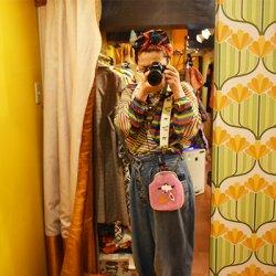 【murakado】シースルーがま口!鶴(ピンク) OTAKARA|シースルー [DW23-355]【クリックポスト可】