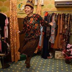 【お仕立て品】落ち着いた色のペイズリー柄た大人な雰囲気のスカート S−1462【レターパックプラス可】