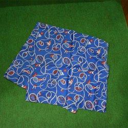 洗うほどに柔らかに巻きやすい!【makumo】スカーフ カラマリ 青 クリックポスト可