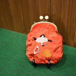 【murakado】御宝(赤) ベロアロングポーチ! OTAKARA (RD)|long pouch [DW1-355]【クリックポスト可】