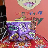 新柄!【ULOCO】ベジタリアンポーチ(紫) Uloco-vegetarian pouch murasaki 【クリックポスト可】