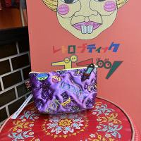 新柄!【ULOCO】QUEEN ポーチ(紫) Uloco-queen pouch murasaki 【クリックポスト可】