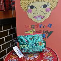 新柄!【ULOCO】QUEEN ポーチ(緑) Uloco-queen pouch midori 【クリックポスト可】