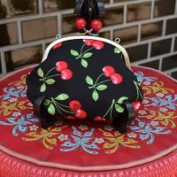 【murakado】さくらんぼ柄コインパース Rockabilly giry|Coin purse [DW1-438]  【クリックポスト可】