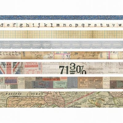 Tim Holtz Idea-Ology Design Tape -Journey 8巻セット<img class='new_mark_img2' src='//img.shop-pro.jp/img/new/icons59.gif' style='border:none;display:inline;margin:0px;padding:0px;width:auto;' />