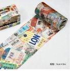 【超ワイド】海外製 マスキングテープ -旅の思い出