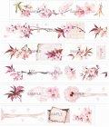 【限定品】海外製マスキングテープ-桜/特殊インク(★1メートルのイラストx5)