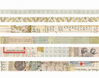 Tim Holtz Idea-Ology Design Tape -Salvaged 6巻セット<img class='new_mark_img2' src='https://img.shop-pro.jp/img/new/icons11.gif' style='border:none;display:inline;margin:0px;padding:0px;width:auto;' />