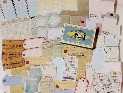 【紙箱入り】ヴィンテージ風ラベルシールセット-Blank tags