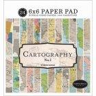 Carta Bella 6インチペーパーパッド  -Cartography No.1