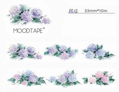 【特価/限定品】海外製マスキングテープ -淡いあじさい(たっぷり10m)