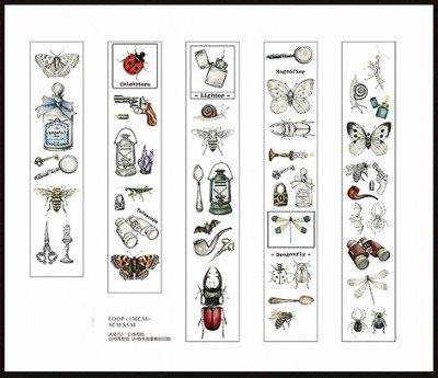 図鑑のような美しいマスキングテープ -Insects