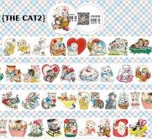 【特殊インク】レトロアニマルマスキングテープ -The cat No.2(和紙テープ)