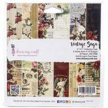 Dress My Craft  Paper Pad 6インチ 24/Pkg -Vintage Saga