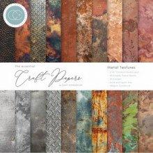 Craft Consortium ペーパーパッド 6X6 40/Pkg -Metal Textures