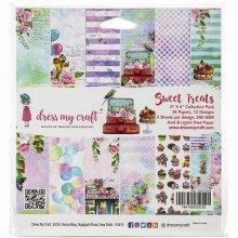 Dress My Crafts  Paper Pad 6インチ 24/Pkg -Sweet Treats