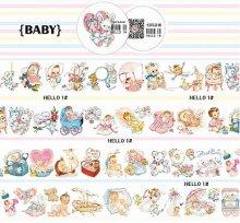 【特殊インク/和紙】レトロアニマルマスキングテープ -Baby