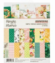 Simple Stories ペーパーパッド 24/Pkg Simple Vintage Garden District<img class='new_mark_img2' src='https://img.shop-pro.jp/img/new/icons32.gif' style='border:none;display:inline;margin:0px;padding:0px;width:auto;' />