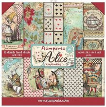 Stamperia Double-Sided Paper Pad 8インチ 10/Pkg -Alice