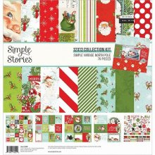 Simple Stories  コレクションキット 12インチ -Simple Vintage North Pole