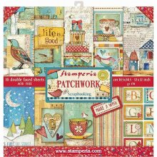 Stamperia Double-Sided Paper Pad 12インチ 10/Pkg -Patchwork<img class='new_mark_img2' src='https://img.shop-pro.jp/img/new/icons11.gif' style='border:none;display:inline;margin:0px;padding:0px;width:auto;' />