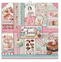 Stamperia Double-Sided Paper Pad 8インチ 10/Pkg -Sweety
