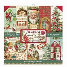 Stamperia Double-Sided Paper Pad 8インチ 10/Pkg -Classic Christmas