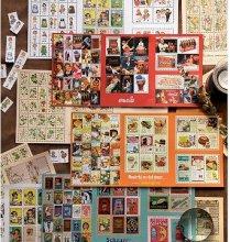 切手風プチプチ切り取れるシールシート 選べる6種(DM便、定形外郵便は三つ折り)
