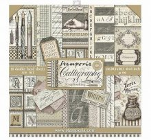Stamperia Double-Sided Paper Pad 8インチ 10/Pkg -Calligraphy