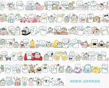 【Molinta】マスキングテープ 白熊とペンギンの日常 10メートル