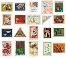 透け感のあるマスキングシール -東欧切手