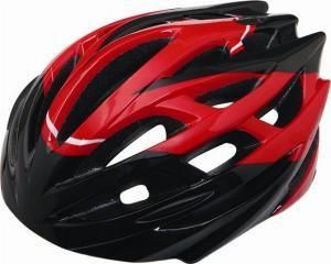 自転車ヘルメット!レッド×ブラックのcoolなコントラスト!
