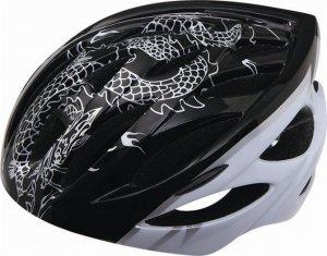自転車ヘルメット♪適用の頭の大きさ:56-62♪龍プリント♪/st130523-4-tk5