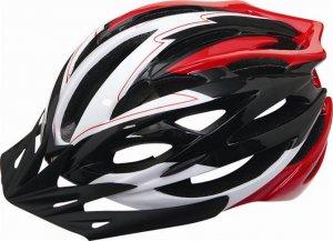 自転車ヘルメット♪ブラック×レッド×ホワイトのコントラストが、カッコよさを演出♪/st130523-6-tk19
