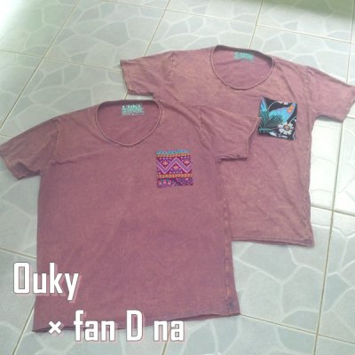 Ouky Tシャツ × *fan D na* サーモンピンク