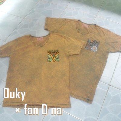 Ouky Tシャツ × *fan D na* サンドベージュ