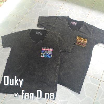 Ouky Tシャツ × *fan D na* ストーンブラック