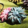 ガーリー Leather Flower☆ヘアーアクセサリー