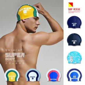 SUPERBODY スーパーボディ スイムキャップ ラバー メンズ 水泳帽 水泳キャップ 競泳用 競泳 016