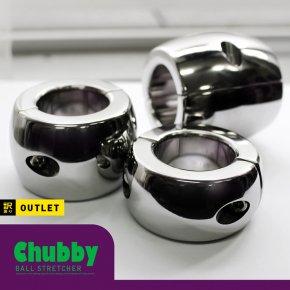 【訳あり】CHILL FACTOR Chubby チャビー ボールストレッチャー ねじ式 118 メタル コックリング ステンレス 睾丸